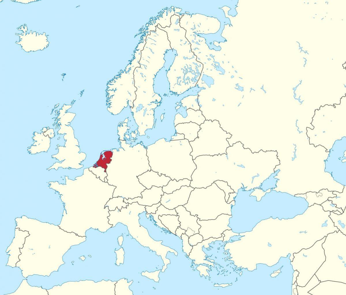 mapa europa holanda Holanda, Europa mapa   Mapa de Europa Holanda (Europa Occidental  mapa europa holanda
